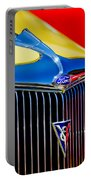 1934 Ford Deluxe Coupe Grille Emblems Portable Battery Charger