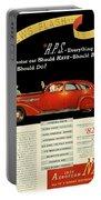 1935 - Nash Aeroform Automobile Advertisement - Color Portable Battery Charger
