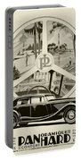 1935 - Panhard Panoramique French Automobile Advertisement Portable Battery Charger