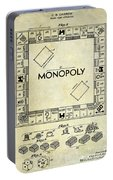 1935 Monopoly Patent Drawing Portable Battery Charger