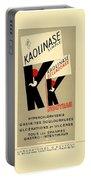 1936 - Kaolinase Drug Advertisement - Color Portable Battery Charger