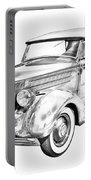 1936 Ford Phaeton Convertible Illustration  Portable Battery Charger