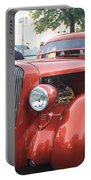 1936 Plymouth Two Door Sedan Front And Side View Portable Battery Charger