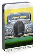 1937 Bugatti 57 S C Atalante Portable Battery Charger