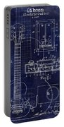 1937 Gibson Electric Guitar Patent Drawing Blue Portable Battery Charger