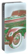 1938 Cadillac Lasalle Antique Pop Art Portable Battery Charger