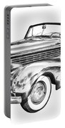 1938 Cadillac Lasalle Illustration Portable Battery Charger