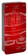1938 Rowboat Patent Artwork - Red Portable Battery Charger