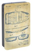 1938 Rowboat Patent Artwork - Vintage Portable Battery Charger