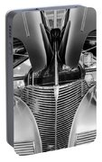 1939 Chevrolet Coupe Grille -115bw Portable Battery Charger