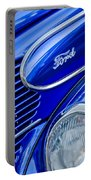 1939 Ford Woody Wagon Side Emblem Portable Battery Charger