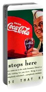 1940 - Coca-cola Advertisement - Color Portable Battery Charger
