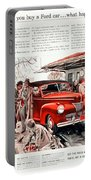 1941 - Ford Super Deluxe Automobile Advertisement - Color Portable Battery Charger