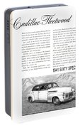 1941 Cadillac Fleetwood Sedan Vintage Ad Portable Battery Charger