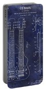 1941 Gibson Electric Guitar Patent Drawing Blue Portable Battery Charger