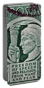 1943 Freedom Of Speech And Religion Stamp Portable Battery Charger