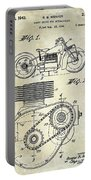 1943 Indian Motorcycle Patent Drawing Portable Battery Charger