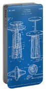 1944 Wine Corkscrew Patent Artwork - Blueprint Portable Battery Charger