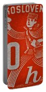 1945 Czechoslovakia Newspaper Stamp Portable Battery Charger