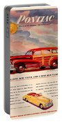 1946 - Pontiac Woodie Station Wagon And Convertible Advertisement - Color Portable Battery Charger