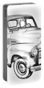 1947 Chevrolet Thriftmaster Pickup Illustration Portable Battery Charger