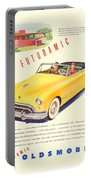 1948 - Oldsmobile Convertible Automobile Advertisement - Color Portable Battery Charger