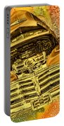 1948 Chev Gold Tie Dye Tilt Car Art Portable Battery Charger