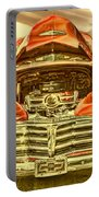 1948 Chev Red Gold Metal Art Portable Battery Charger