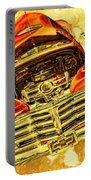1948 Chevy Gold Acid Art Portable Battery Charger