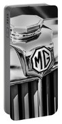 1948 Mg Tc Hood Ornament -767bw Portable Battery Charger