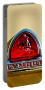 1948 Plymouth Deluxe Emblem Portable Battery Charger