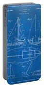 1948 Sailboat Patent Artwork - Blueprint Portable Battery Charger