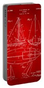 1948 Sailboat Patent Artwork - Red Portable Battery Charger