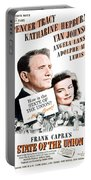 1948 - State Of The Union Motion Picture Poster - Spencer Tracy - Katherine Hepburn - Mgm - Color Portable Battery Charger