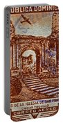 1949 San Francisco Ruins Dominican Republic Stamp Portable Battery Charger
