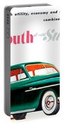 1950 - Plymouth Suburban Station Wagon Automobile Advertisement - Color Portable Battery Charger