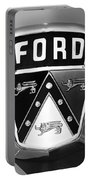 1950 Ford Custom Deluxe Station Wagon Emblem Portable Battery Charger by Jill Reger
