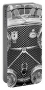 1950 Jaguar Xk120 Roadster Grille -0260bw Portable Battery Charger
