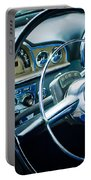 1950 Pontiac Steering Wheel Emblem 2 Portable Battery Charger