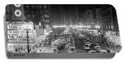 1950s 1953 Night Scene Of Chicago State Portable Battery Charger
