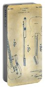 1951 Fender Electric Guitar Patent Artwork - Vintage Portable Battery Charger