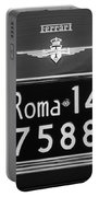 1951 Ferrari 212 Export Berlinetta Rear Emblem - License Plate -0775bw Portable Battery Charger
