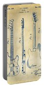1953 Fender Bass Guitar Patent Artwork - Vintage Portable Battery Charger