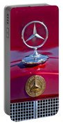 1953 Mercedes Benz Hood Ornament Portable Battery Charger by Jill Reger