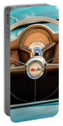 1954 Chevrolet Corvette Convertible  Steering Wheel Portable Battery Charger by Jill Reger