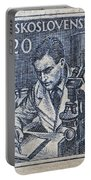 1954 Czechoslovakian Scientist Stamp Portable Battery Charger