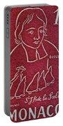 1954 De La Salle Monaco Stamp Portable Battery Charger