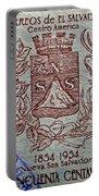 1954 El Salvador Stamp Portable Battery Charger
