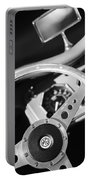 1954 Mg Tf Steering Wheel Emblem -0920bw Portable Battery Charger
