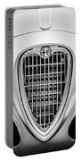 1955 Alfa Romeo 1900 Css Ghia Aigle Cabriolet Grille Emblem -0564bw Portable Battery Charger